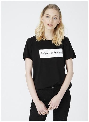 Limon Company Limon Kadın Siyah Bisiklet Yaka T-Shirt Siyah